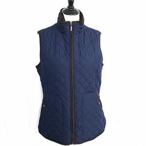 Weatherproof Navy Vest w/Faux Fur Lining - Size L